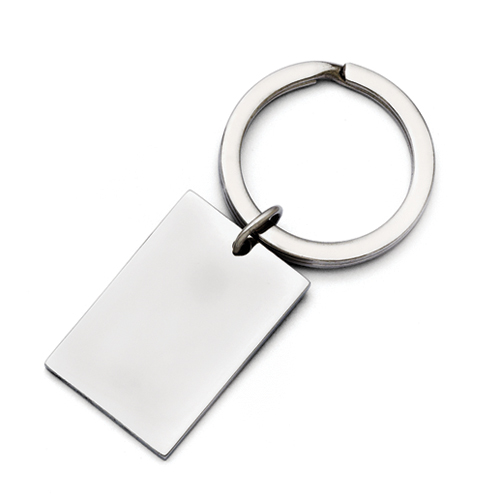 Chisel Stainless Steel Polished Key Ring