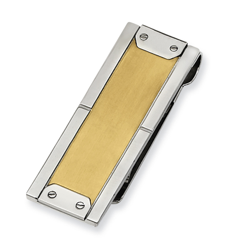 Chisel Stainless Steel 24k Gold-plated Money Clip