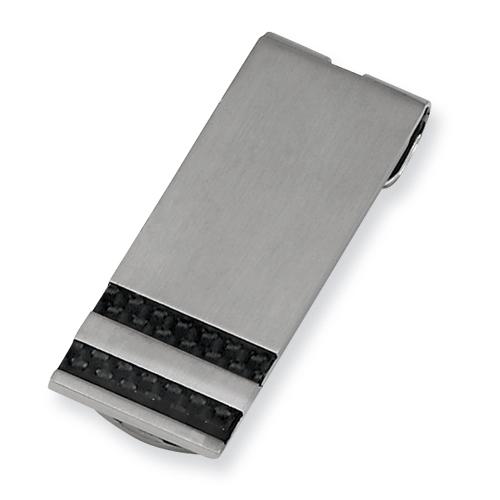 Chisel Stainless Steel Black Carbon Fiber Money Clip