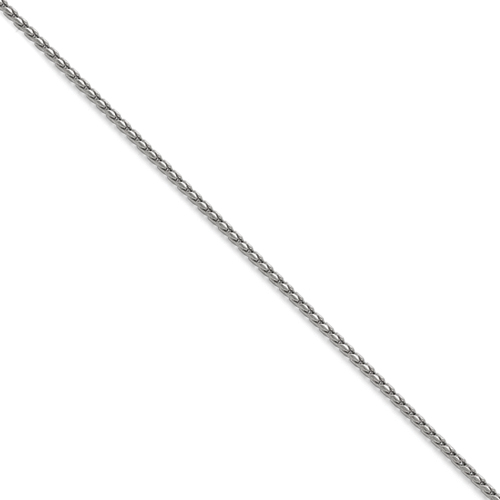 Stainless Steel 2.50mm Polished Fancy Link Chain