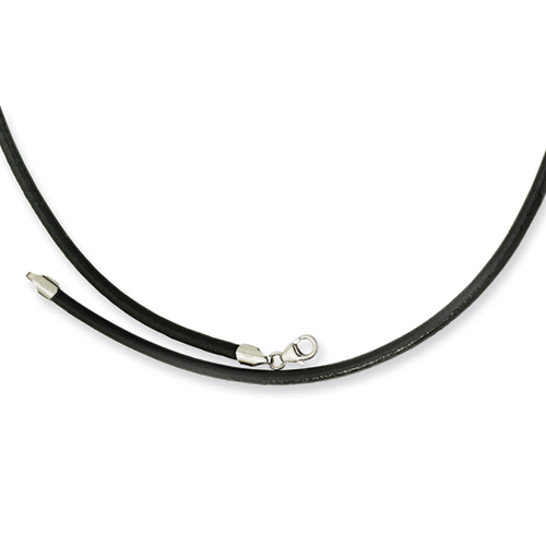 Chisel 3.0mm Genuine Leather Greece Textured Necklace