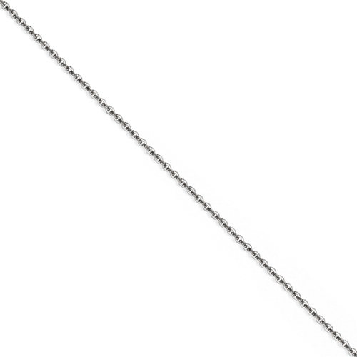 Chisel Stainless Steel 2.30mm 18 inch Cable Chain