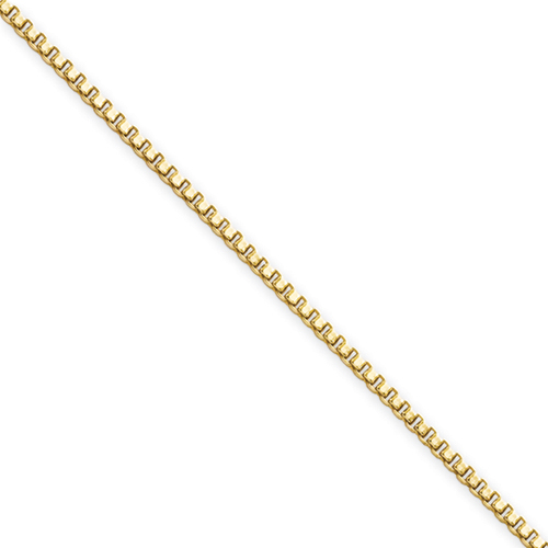 Chisel Stainless Steel Gold-plated 1.5mm 18 inch Box Chain