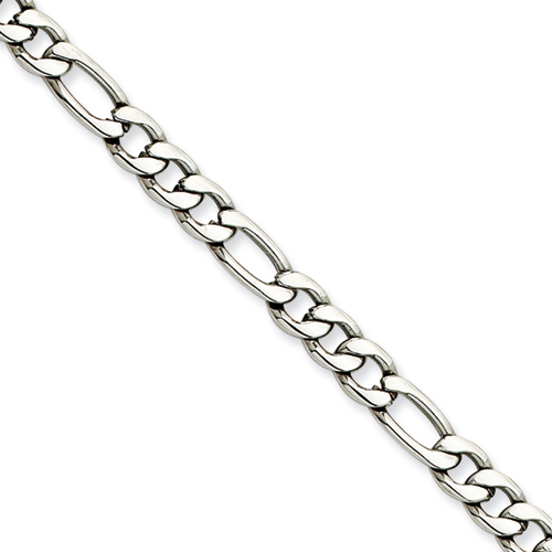 Chisel Stainless Steel 5.30mm 18 inch Figaro Chain