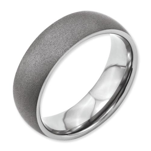 Chisel Titanium Stone Finish 7mm Band