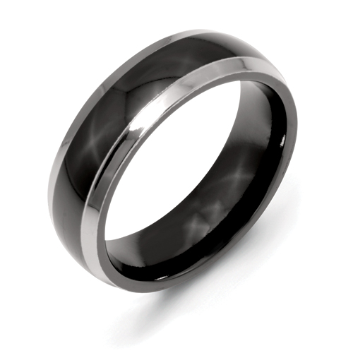 Chisel Titanium Two-tone 7mm Polished Band