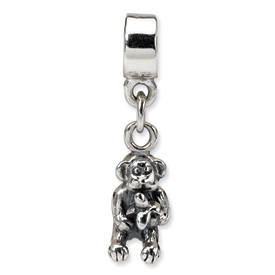 Reflection Beads Sterling Silver Kids Monkey Dangle Bead