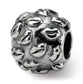 Reflection Beads Sterling Silver Kids Lips Bead