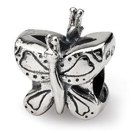 Reflection Beads Sterling Silver Kids Butterfly Bead