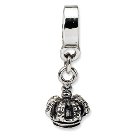 Reflection Beads Sterling Silver Kids Crown Dangle Bead