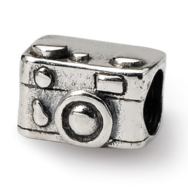 Reflection Beads Sterling Silver Kids Camera Bead