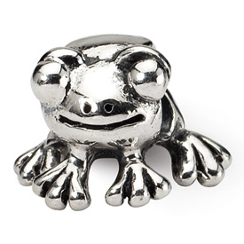 Reflection Beads Sterling Silver Frog Bead
