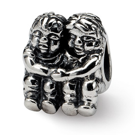 Reflection Beads Sterling Silver Two Kids Bead