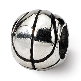 Reflection Beads Sterling Silver Kids Basketball Bead