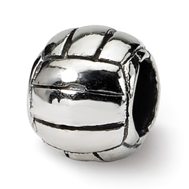 Reflection Beads Sterling Silver Kids Volleyball Bead