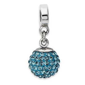 Reflection Beads Sterling Silver December Swarovski Elements Ball Dangle Bead