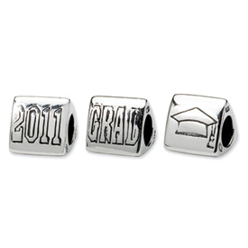 Reflection Beads Sterling Silver Grad 2011 Trilogy Bead