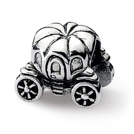Reflection Beads Sterling Silver Pumpkin Carriage Bead