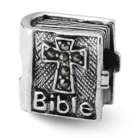 Reflection Beads Sterling Silver Marcasite Cross Bible Bead
