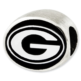 University of Georgia Sterling Silver Collegiate Bead