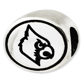 University of Louisville Sterling Silver Collegiate Bead