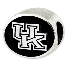 University of Kentucky Sterling Silver Collegiate Bead
