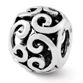 Reflection Beads Sterling Silver Bali Bead