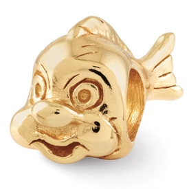 Reflection Beads Sterling Silver and Gold-plated Fish Bead