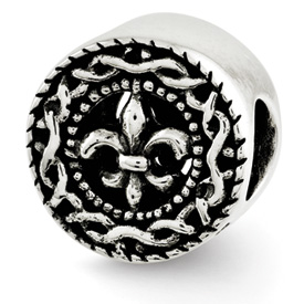 Reflection Beads Sterling Silver Fleur de lis Bead