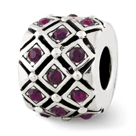 Reflection Beads Sterling Silver February Swarovski Elements Bead