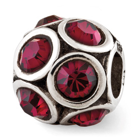 Reflection Beads Sterling Silver July Swarovski Elements Bead