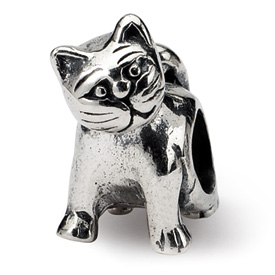 Reflection Beads Sterling Silver Cat Bead