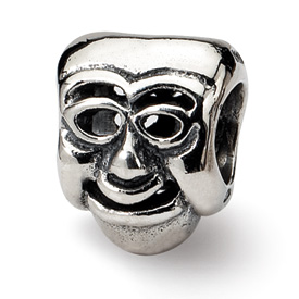 Reflection Beads Sterling Silver Comedy Mask Bead