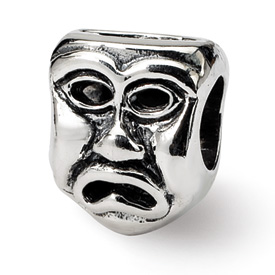 Reflection Beads Sterling Silver Tragedy Mask Bead