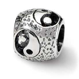 Reflection Beads Sterling Silver Yin Yang Bead