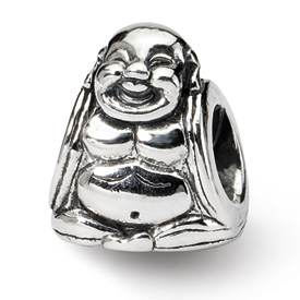 Reflection Beads Sterling Silver Buddha Bead