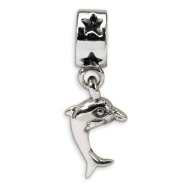Reflection Beads Sterling Silver Dolphin Dangle Bead