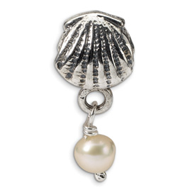 Reflection Beads Sterling Silver Shell Freshwater Cultured Pearl Dangle Bead
