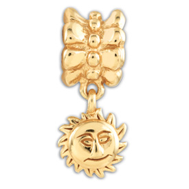 Reflection Beads Sterling Silver and Gold-plated Sun Dangle Bead