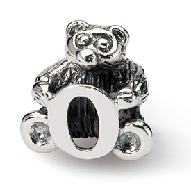 Reflection Beads Sterling Silver Kids Letter O Bead