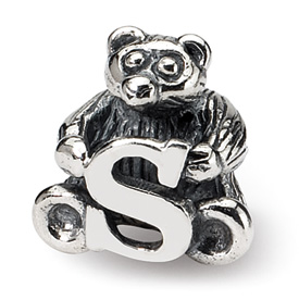 Reflection Beads Sterling Silver Kids Letter S Bead