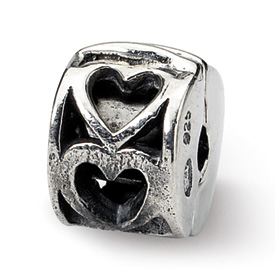 Reflection Beads Sterling Silver Kids Heart Clip Bead