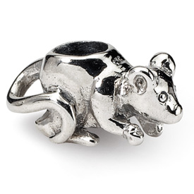 Reflection Beads Sterling Silver Kids Mouse Bead