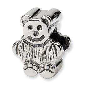 Reflection Beads Sterling Silver Kids Bear Bead