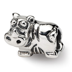 Reflection Beads Sterling Silver Kids Hippo Bead