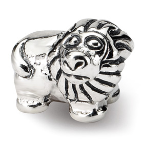 Reflection Beads Sterling Silver Kids Lion Bead