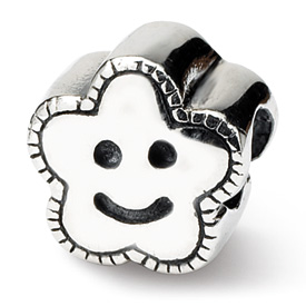 Reflection Beads Sterling Silver Kids Smiley Flower Bead