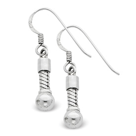 Reflection Beads Sterling Silver Short Earrings