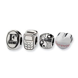 Reflection Beads Sterling Silver  Best Friends Boxed Bead Set