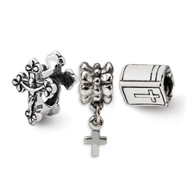 Reflection Beads Sterling Silver  Religious Boxed Bead Set